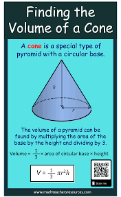 Finding The Volume Of A Cone Math Geometry Volumeofacone
