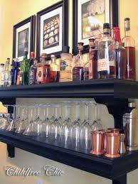 mini bar shelf create a makeshift bar putting your liquor and cocktail