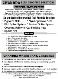 Chandra Bird Proofing & Water Tank Cleaning Solutions - Photos | Facebook