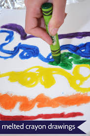 melted crayon drawings pickles
