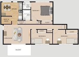3 Bedroom Floor Plans Unique Decorating