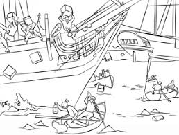 Small Picture Boston Tea Party America War Coloring Page History Free