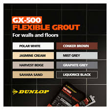 Graphite Grey Colour Chart Dunlop Gx 500 Flexible Floor Wall Tile Grout Graphite Grey