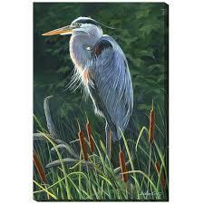 heron canvas wall art wild wings f067214544 on heron canvas wall art with heron canvas art wrapped great blue heron left wild wings