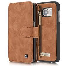 caseme vintage multifunctional wallet genuine leather case for samsung galaxy s7
