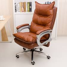 comfort office chair. genuine leather luxurious and comfortable home office chair adjustable height ergonomic boss seat furniture swivel chair-in chairs from on comfort f