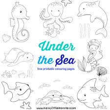 Small Picture Under the Sea Colouring Pages Free Messy Little Monster