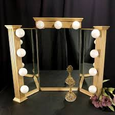 diy tri fold vanity mirror