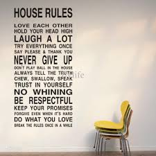 house rules large wall lettering stickers quotes and sayings home art decor decal wall stickers home decor wall decals quotes vinyl wall stickers online  on house rules wall art suppliers with house rules large wall lettering stickers quotes and sayings home