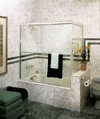 centec semi frameless tub slider with ress return