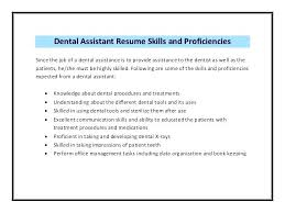 job description for a dentist dental assistant resume skills dental assistant resume sample