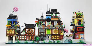 Ninjago City : The Suburbs (An extension to Lego set 70657 Ninjago City  Docks) in 2021 | Lego ninjago city, Lego sets, Lego