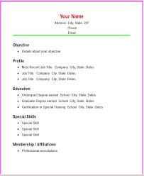 Easy Resume Examples Pelosleclaire Com