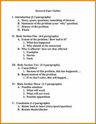 Example Of Outline For Research Paper Template 4th Grade Writing