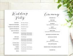 Modern Wedding Program Templates Piazzola Co