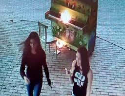 В Новокузнецке вандалы девушки подожгли уличное пианино в арт сквере Лица злоумышленниц запечатлели камеры наблюдения И на кадрах отчетливо видно как совершив поджог девушки с улыбками на лицах спокойно уходят из