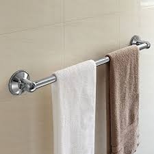 then the insta mount 24 inch towel bar by hotelspa is a great option for you the bar comes with both power suction cups that lock into