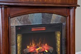 aspen infrared electric fireplace mantel package in meridian cherry 28wm1751 c248