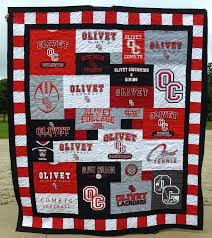 I like the mismatched pattern and border around the edges. Also ... & Olivet College T-shirt Quilt, Olivet Michigan Adamdwight.com