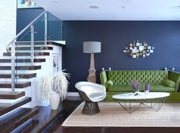 dark blue living room wall color idea