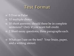 test review  take notes today from the power point   4