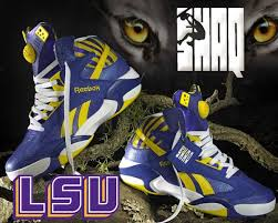 reebok basketball shoes pumps. reebok shaq attaq pump lsu tigers basketball shoes m40343 purple yellow mens #reebok pumps r