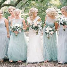 Long Tulle <b>Mint Green</b> Bridesmaid Dresses Modest <b>Mother of</b> Bride ...
