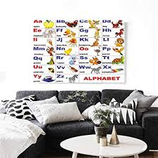 How We Go Home Chart Printable Amazon Com Educational Canvas Wall Art Animals Placed On
