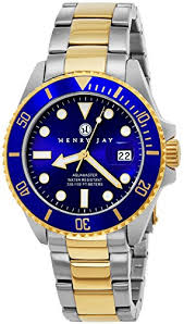 mens rolex watches archives henry jay men s analog quartz 23k gold plated two tone stainless steel aquamaster dive watch