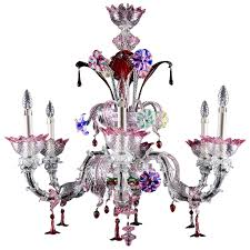 italian handblown venetian murano glass chandelier circa 1920s for