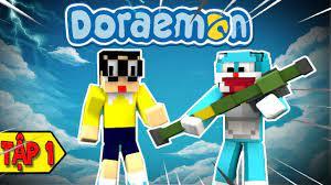 Minecraft Doremon Chú Mèo Máy Đến Từ Tương Lai (Bựa) Tập 1 - Gậy Thông Cống  - YouTube