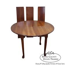 9395 stickley cherry valley round dining table w 3 leaves