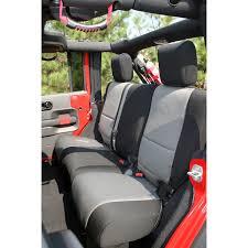 seat cover rear neoprene black gray 07 18 jeep wrangler jku tap to expand