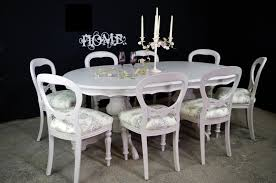 large french style double pedestal dining table 8 antique balloon back chairs