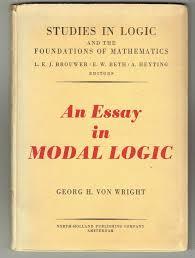 an essay in modal logic georg h von wright com books