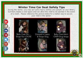 winter time car seat safety tips