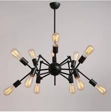 Adjustable light fixture Stainless Steel 1pendantnot Include Bulb And Switch Dhgatecom Nordic Industrial Vintage Spider Design E27 Edison Chandelier Cafe