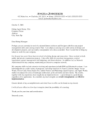 Architecture Job Cover Letter Cover Letter Example
