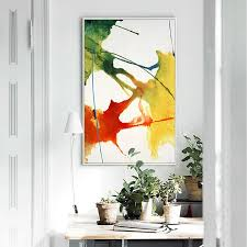 Get free shipping on qualified landscape wall art paintings or buy online pick up in store today in the home decor department. Nordic Abstract Modern Landscape Canvas Painting Colorful Poster For Bedroom Living Room Home Decorative Wall Art Decor Alley Corner Nordic Wall Decor Home Decor