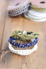 diy stud braid bracelet tutorial