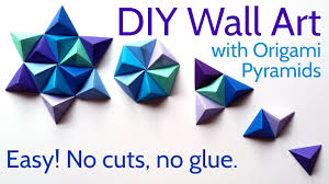diy paper wall art with origami pyramid pixels easy tutorial and decorating ideas on paper wall art tutorial with diy paper wall art with origami pyramid pixels easy tutorial and