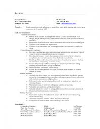 Secretary Resume Objective For Study Medical Samples Examples North