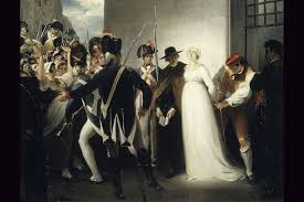 women and the french revolution many roles marie antoinette being taken to her execution artist william hamilton
