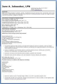 Sample Lpn Resume Objective Resume Downloads
