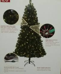 Christmas Tree With Changing Lights New 6 5 Led Prelit Alpine Pine Christmas Tree Color Changing Lights Foot Switch