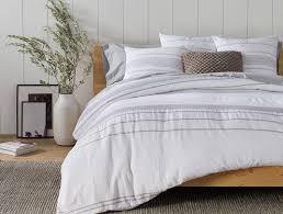 ripple stripe duvet cover alpine white with gray