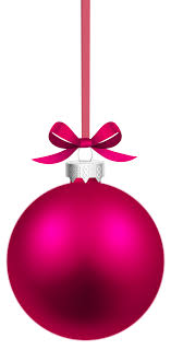 Pink Hanging Christmas Ball PNG Clipart - Best WEB Clipart