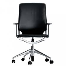 vitra meda chair office chair seat black leather back black leather frame