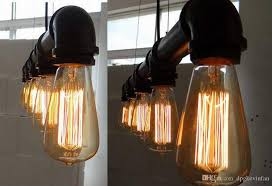 5 heads industrial vintage ceiling lights chandelier metal pipe retro loft pendant lamps art deco pendant light water pipe pendant lights lighting fixtures