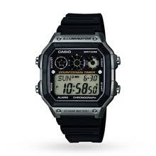 casio watches goldsmiths mens casio world time alarm chronograph watch ae 1300wh 8avef